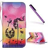 iPhone 5C Coque Antichoc,iPhone 5C Coque Flip Etui de Protection PU Cuir Bookstyle...