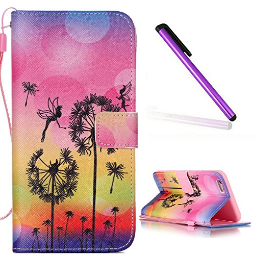 iPhone 5C Hülle Leder,iPhone 5C Hülle Silikon,iPhone 5C Hülle Flip Case,iPhone 5C Cover,EMAXELERS iPhone 5C Leder Handy Tasche Wallet Case Flip Cover Etui,PU Leder Flip Wallet Hülle für iPhone 5C,iPho T Elephant Campanula 2