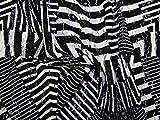 Abstrakt Print Stretch Spitze Kleid Stoff schwarz &,