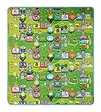 LAAT Alfombra de juegos para bebé, espuma suave, impermeable, diseño del abecedario