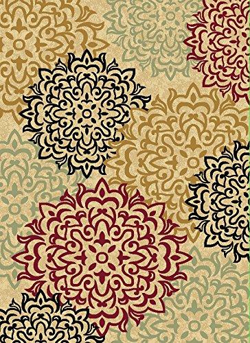 Luxus Bettwäsche Kollektion Oriental Klassisches Muster, Bereich Teppich Hochflor Heat Set New D2077 5'x 7' Beige (Oriental Bereich Teppich)