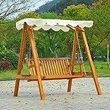 Homcom Balancelle balancoire hamac Banc Fauteuil de Jardin Bois de pin 2 Places...