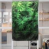 Feuilles vertes Tapisserie Décoration murale à suspendre Poids léger Tissu de polyester Décoration murale 96144cm/94cm par 142,2cm