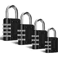 Zahlenschloss, Kombinationsschloss [4-Stück],Mmester Wetterfestes Metall & Plated Steel Combination Lock für Schule, Gym…