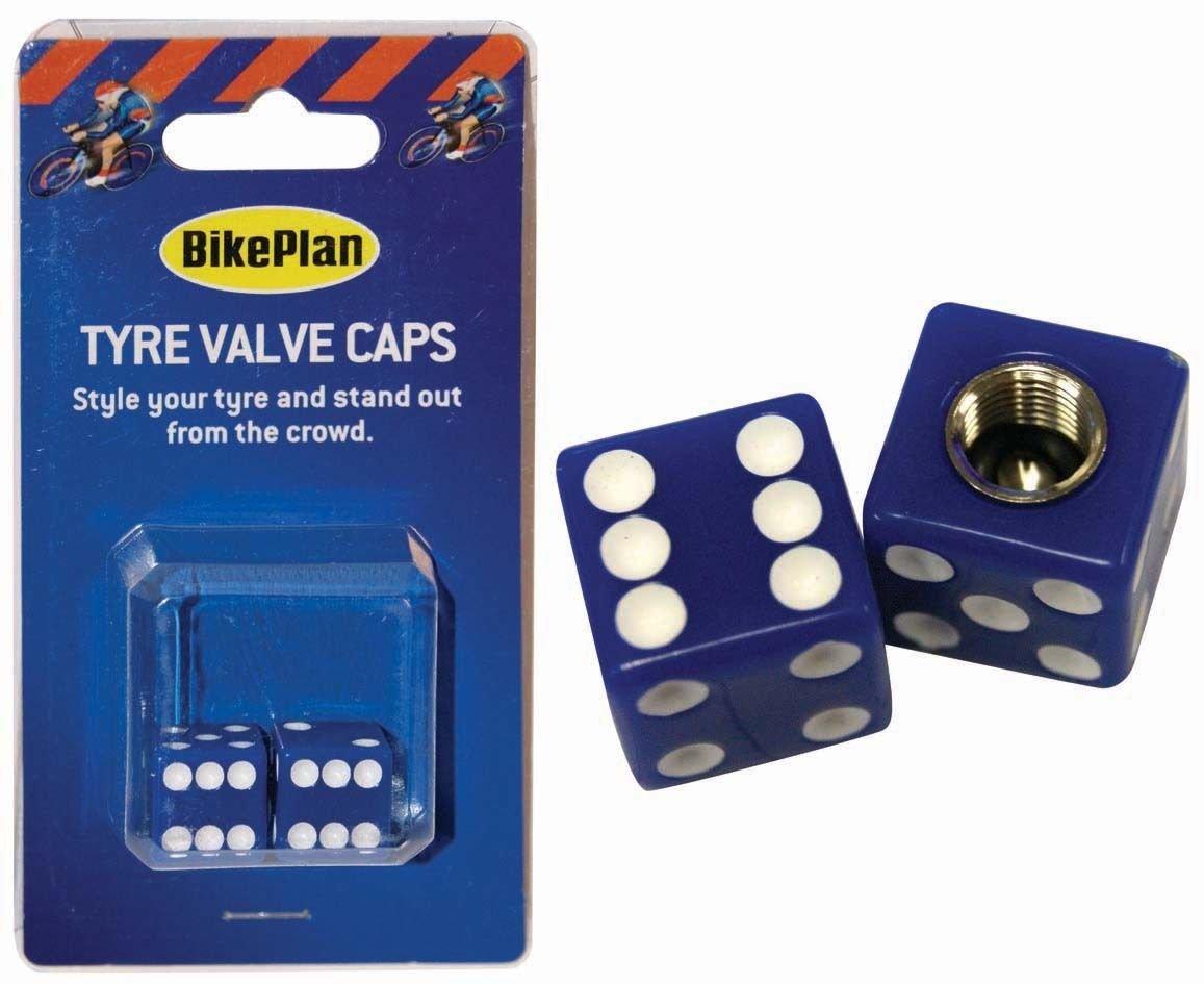 BikePlan BKP061 della valvola Pneumatico Tappo con Dado, Colore: Blu