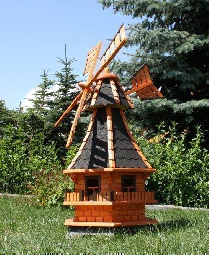 holzdekoladen Supergroße Windmühle, schwarz Typ 6