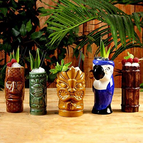 (Luau Tiki Party-Set - Keramik-Cocktailtassen von bar@drinkstuff)