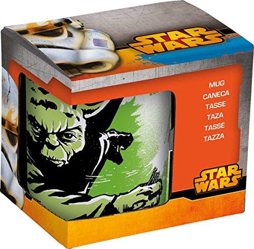 NOVASTYL 8011671 Star Wars Yoda Coffret Mug Grès Orange 32 cl