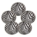"Just Artifacts 16"" Black and White Zebra Chinese Japanese Paper Lanterns (Set of 5) - Click for More Chinese/Japanese Paper Lantern Colors & Sizes!"
