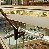 Acryl- Wandaufkleber 3d Dreidimensional Gips Taille Fußleiste Decke Decke Dekoration,Gold-10*10cm*10pcs