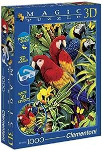 """Clementoni """"Majestic Macaws"""" Magic 3D Puzzle (1000-Piece, Multi-Colour)"""