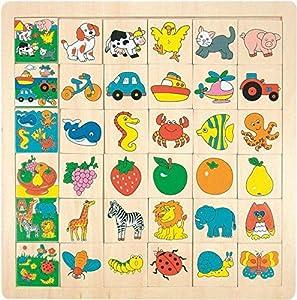 Legespiel Animales del Rompecabezas LOTTO Juguetes educativos Imagen de Madera Juguetes de Madera Kinderland