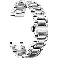 BINLUN Cinturino per Orologio in Acciaio Inossidabile con Cinturino in Metallo con Estremità Dritte e Curve Uomo Donna…