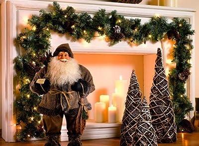 Weihnachtsgirlande 270 Cm Mit Lichterkette 50 Lichter Und Zapfen von Frank Flechtwaren