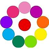 Vordas Welecoc Marqueur Effaçable à Sec Tableau Blanc Marqueur,10 Pièces Cercles Effaçables à Sec Amovible Dot Wall Autocollants de Cercles Colorés Dans(11.8 Pouces)