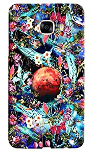 Omnam Matchstick Pattern On Black Printed Designer Back Cover Case For Samsung Galaxy C7
