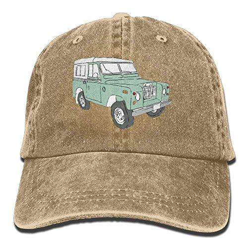 Preisvergleich Produktbild UUOnly Vintage Land Rover Serie verstellbare Reisende Baumwolle gewaschen Denim Hüte Asphalt