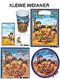 Kleine Indianer Partyset für 12 Kinder 66 Teile Geburtstag Party