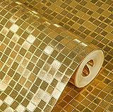 YUELA Luxus Glitter Mosaik TV Hintergrund Wandbild Tapeten-3D Rollengoldfolie Wand-Papier Silber Deckenwandbespannung, C