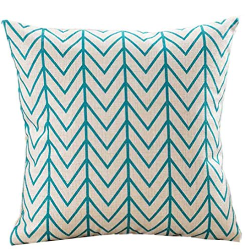 Indexp Geometry Pattern Printing Throw Cushion Cover Sofa Home Decoration Pillow case (Style E)