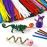 Pack ahorro de limpiapipas de 30 cm en 10 colores variados para manualidades infantiles (pack de 120)