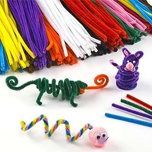 Großpackung Pfeifenreiniger - bunt - für Kinder zum Basteln und Dekorieren - 120 Stück