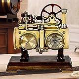 A Retro nostalgischen Sitz Glocke ruhigen Bett Schlafzimmer Uhr kreative einfache Dampfmaschine Quarzuhr