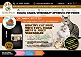 NATURES REPLIES: Natural Healthy Human Grade Veterinary Approved Grain Gluten Rice Free Best Growing KITTEN CAT Food Free Range CHICKEN Flavour in 7.5Kg Bags. Aids Joints and Bones Mobility Cognitive Function Visual Development Reduces Inflammation Hypoal