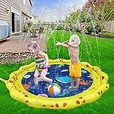 VATOS Splash Pad Wasserspielzeug spielmatte Outdoor Sommer Garten Splash Spielmatte für Baby Party Sprinkler und Splash Play Matte 59 ' Spaß für Kinder 2 3 4 5 Jungen und Mädchen