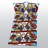 Feuerwehrmann Sam - Feuerwehr - Kinderbettwäsche - Bettwäsche - witzige Bettwäsche - Gr. 80 x 80 cm, Bettbezug: 135 x 200 cm / Material: 100 % Baumwolle / waschbar bei 60°C, trocknergeeignet