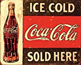 Poster Coca Cola klassisches Werbeschild - Größe 40 x 50 cm - Miniposter