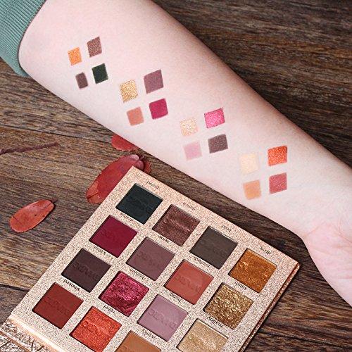 IMAGIC Beauty Shimmer Eyeshadow 16 Colors Palette Matte Eyeshadow Glitter Palette Make Up Set