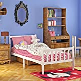 White Pine Wooden Single Bed 3ft Frame Child Bedroom Bedstead Base with 2 Headboards and Slats