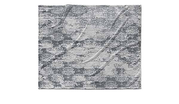 Blue//White - BOHEMIA Collection KAVKA Designs Heena Fleece Blanket, Size: 40x30x1 - TELAVC043VPS