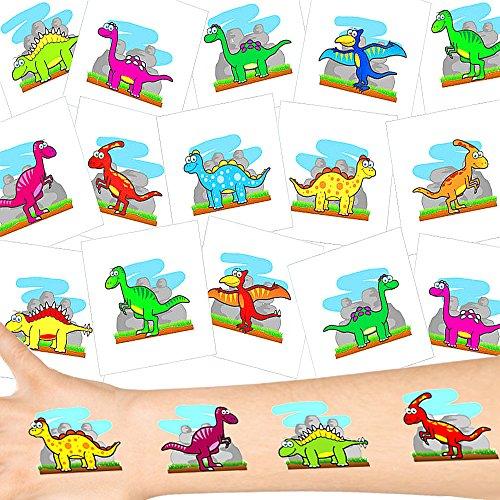 German Trendseller® - Dino Tattoos Set ┃ NEU ┃ Dino Party ┃ Kindergeburtstag ┃ Mitgebsel ┃36 Tattoos (Disney Age Ice)