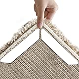 Teppichgreifer, 8 Stück Schwarz / Weiß Anti Curling Teppichgreifer, Antirutsch - Gerade Teppichgreifer für Ecken und Kanten - Anti - Rutsch - Teppich für Teppiche - Ideal Teppich Stopper für Küche Bad (White)