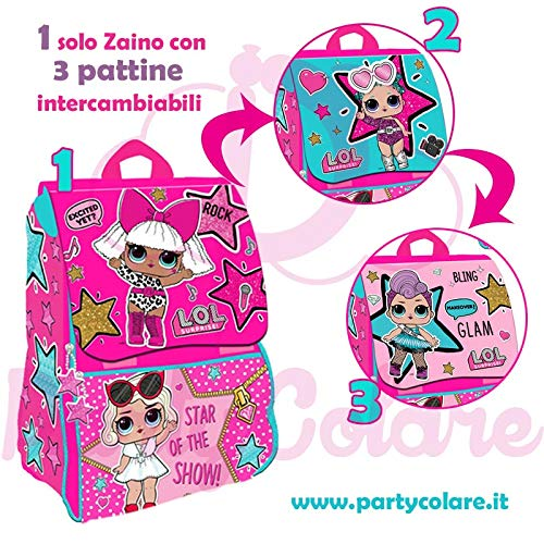 Zaino estensibile lol surprise con pattine intercambiabili deluxe