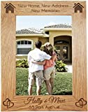"""Studio 5 - Personalised Gifts Personalised House Warming Gift Wooden Photo Frame 7x5"""" gift Keepsake PRESENT for friend family him Her - New Home - L1110"""