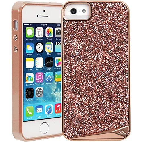 Case-Mate Brilliance Schutzhülle für Apple iPhone SE/5S/5 in rose gold [Echte Kristalle | Einzigartig & edel | Tasten in Metall Optik] - CM034266
