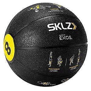 SKLZ Trainer Med Ball–Selbst Coaching Medizinball mit Blatt Anweisungen (8Pfund)