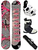 AIRTRACKS Damen Snowboard Set / Stripes Lady Rocker 153 + Snowboard Bindung Star W + Snowboardboots Star W 41 + Sb Bag