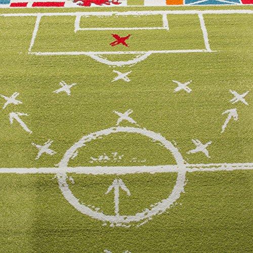 Kinderteppich Fußball Fahnen