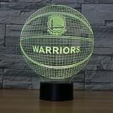 Golden State Warriors Tischlampe Neonschild Neu 3D Neon 6 verschieden Farben NBA