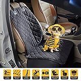 Tech Traders® Autositzschutz für Vordersitz, wasserdicht, für Hunde, mit rutschfester Gummirückseite, Sitzschutz für alle Fahrzeugtypen, wetterfest, leicht zu reinigen, langlebige Qualität, mit Autositz-Anker