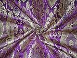Schwere Brokat Stoff lila gold und metallic gold Farbe