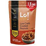 Lo! Low Carb Delights - Coated Peanuts Keto Snacks | Only 1.6 GMS Net Carbs | Lab Tested Keto Food Products for Keto…