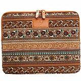#DoYourMobile© Tasche Transporthülle Schutzcase Schutzhülle Sleeve (10 Zoll) für Tablet Tablet-PC Netbook 28 x 22 cm/Motiv: braunes Muster