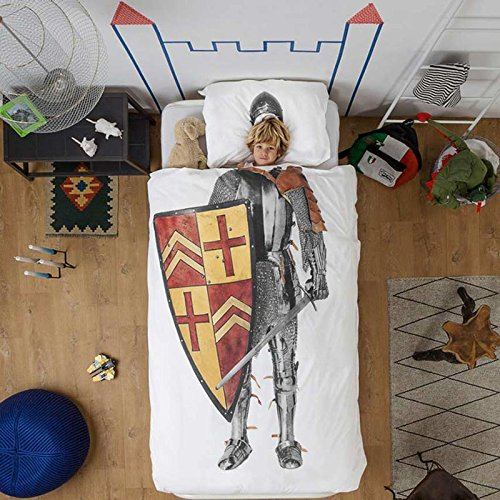 Snurk Childrens Knight Duvet Bedding Set