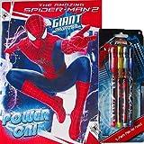 Livre de coloriage Spiderman et 4pièces de crayons de pop up...