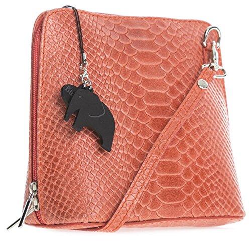 Big Handbag Shop, Borsa a tracolla donna Taglia unica Snake - Coral
